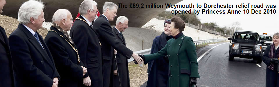 The £89.2 million Weymouth to Dorchester relief road was opened by Princess Anne 10 December 2010
