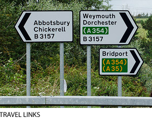 Direct routes through Dorset